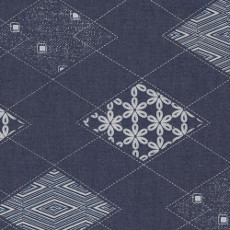 Diamond Arcuate Denim Print - Art Gallery Fabric 58in/59in Per Metre, 100% Cotton, 4.5 Oz/sqm
