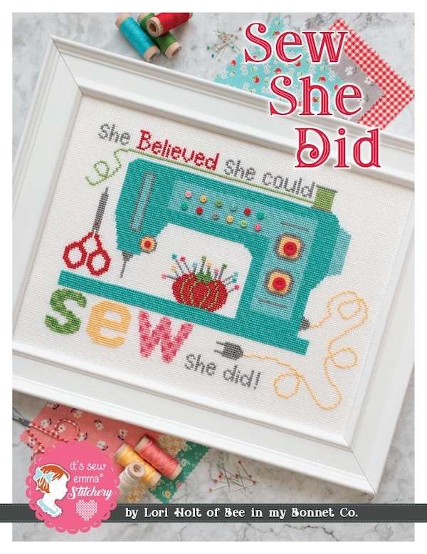 Sew She Did Cross Stitch Pattern - Lori Holt