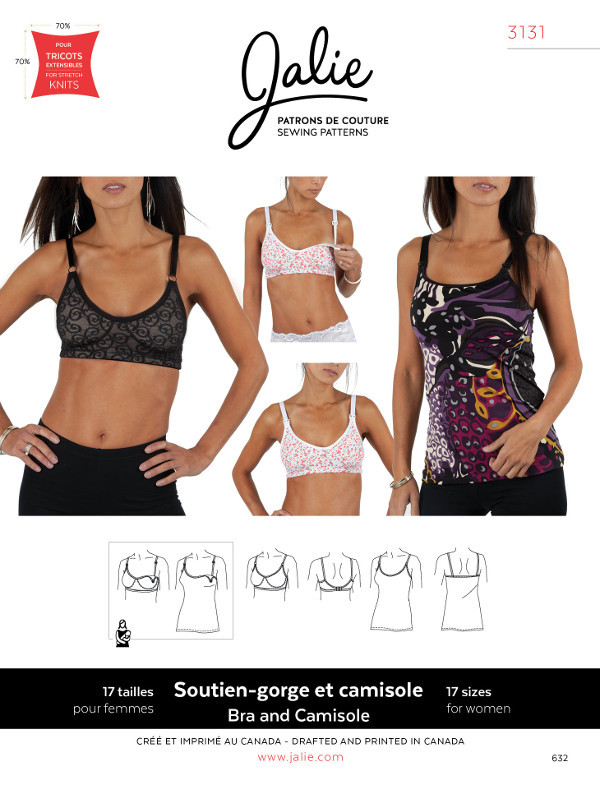 Bra And Camisole Pattern by Jalie