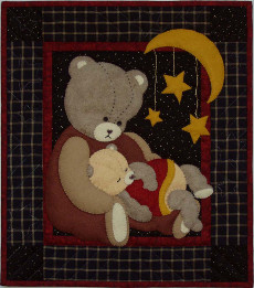 Miniature Quilt Kit - Baby Bear 13in X 15in