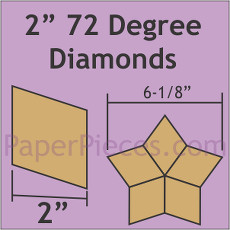 2 Inch 72 Degree Diamonds 40 Pieces - Paper Piecing