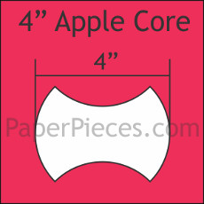 4 Inch Apple Cores 50 Pieces - Paper Piecing