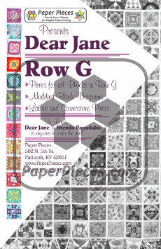 Dear Jane Quilt Paper Piece Pack Row G - Paper Piecing