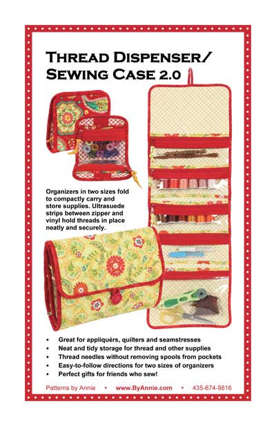 Thread Dispenser/Sewing Case Pattern 2.0 By Annies