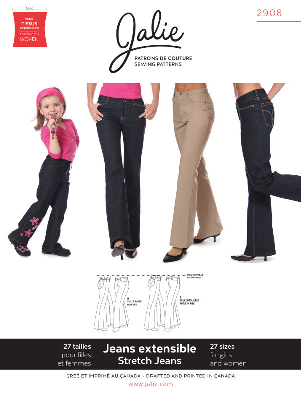 Womens Stretch Jeans Pattern by Jalie