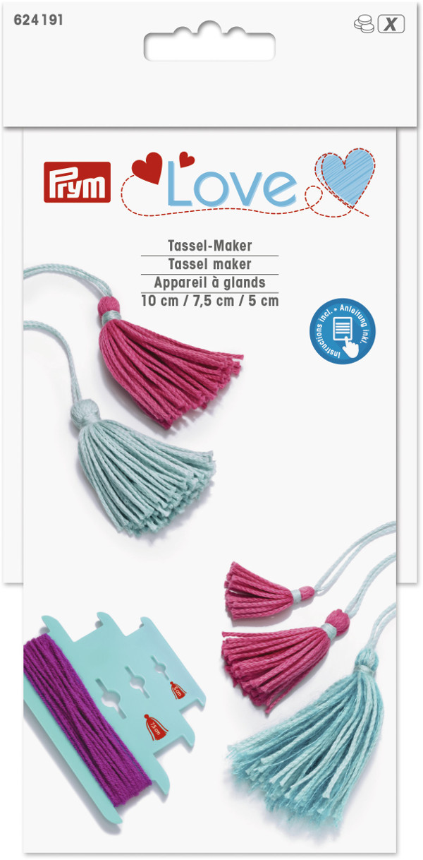 Prym Love Tassel Maker 3 Sizes 5cm 7.5cm 10cm