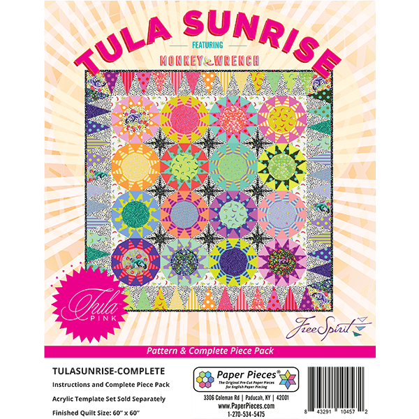 Tula Sunrise Pattern + Complete Piece Pack - Paper Pieces