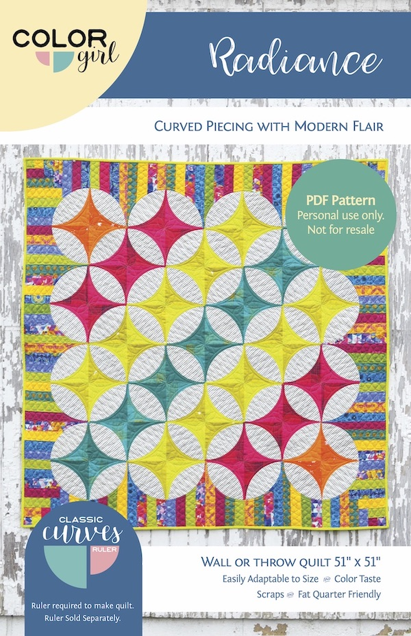 Radiance Quilt Pattern By Color Girl Quilts