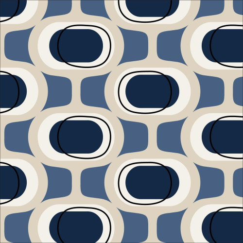 Orbs Blue from Modern Retro by Tina Vey