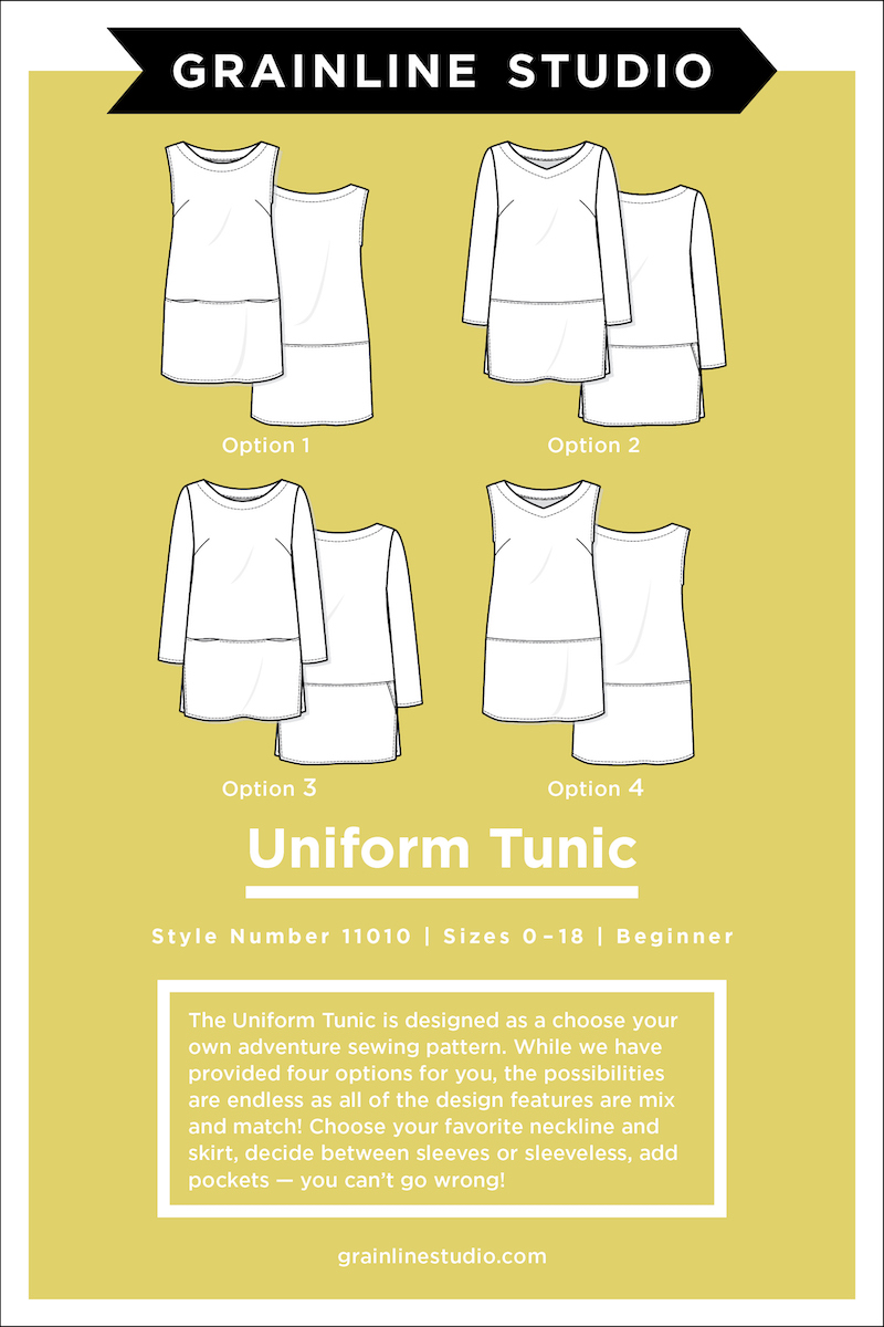 Uniform Tunic Size 0-18 Pattern By Grainline Studio