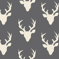 Hello Bear Buck Forest Moonstone Knit - Art Gallery Fabric 58in/60in Per Metre