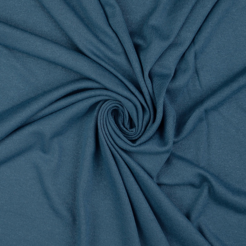 Polperro French Navy Viscose Jersey Fabric
