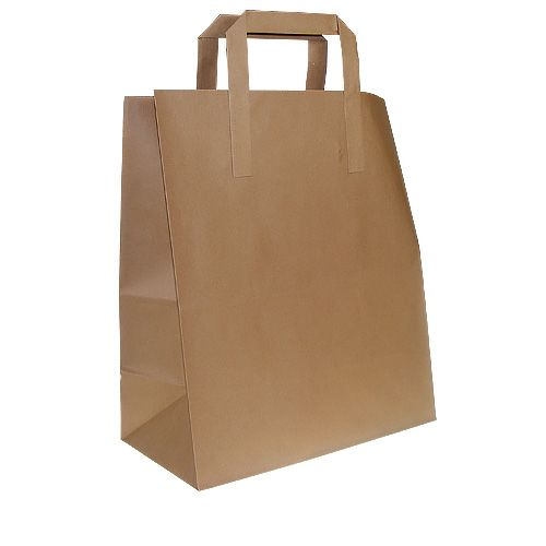 Small Flat Handle Paper Carrier Kraft Bags
