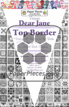 Dear Jane Quilt Paper Piece Pack Row Top Border - Paper Piecing