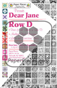 Dear Jane Quilt Paper Piece Pack Row D - Paper Piecing