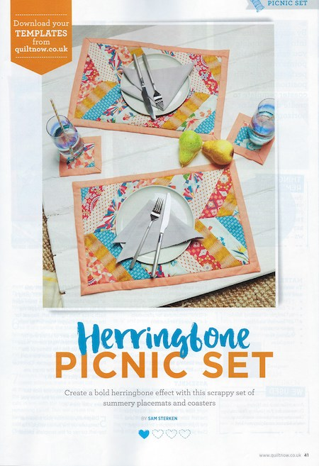 Quilt Now Issue 62 - Herringbone Picnic Set