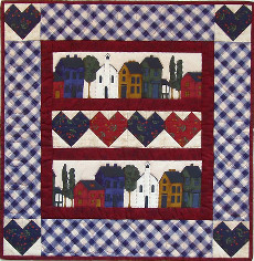 Miniature Quilt Kit - Hearts and Home 21in x 21in