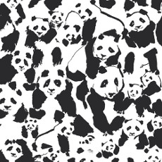 Pandalicious Pandalings Pod Assured Canvas - Art Gallery Fabric 58in/59in Per Metre