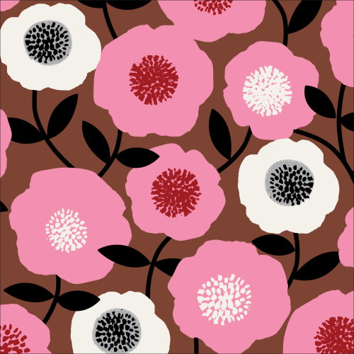 Blooms Pink from Modern Retro by Tina Vey