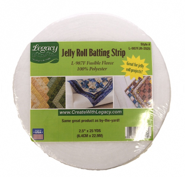 Legacy Fusible Fleece - 2.25in x 23m (25yds) Jelly Roll Strip