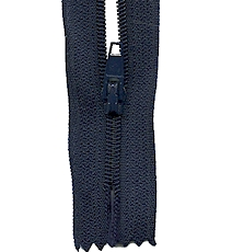 Make A Zipper Standard - 197in Long With 12 Zipper Pulls - Navy