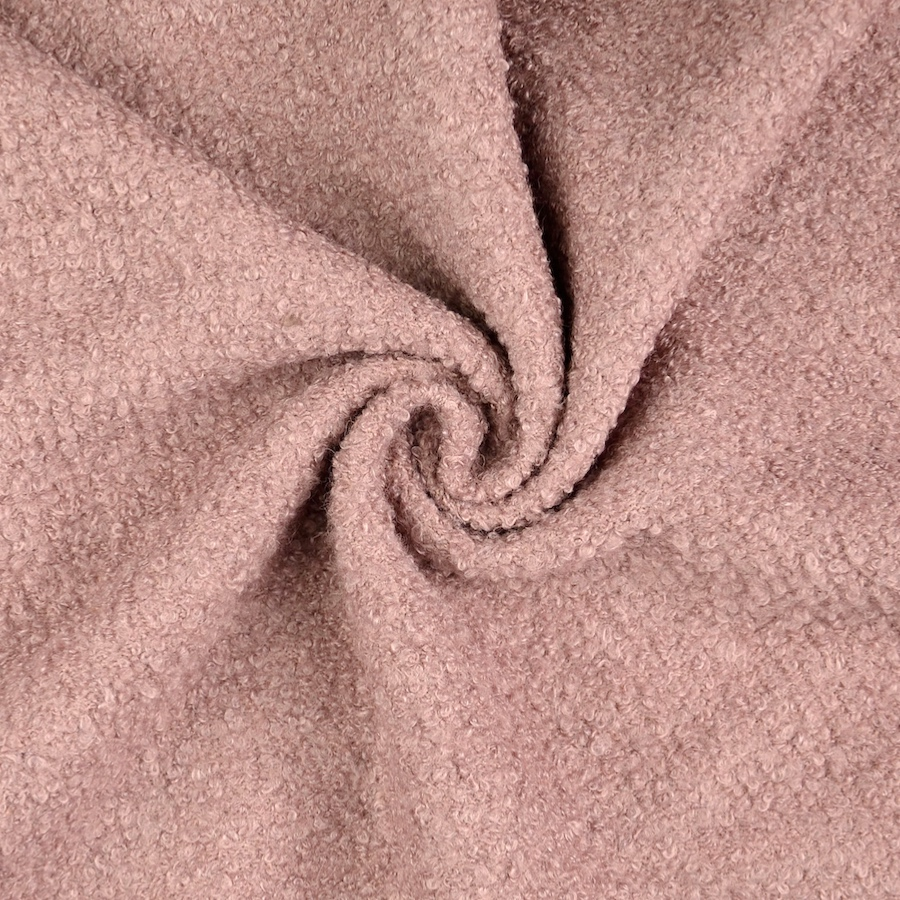 Pembroke Soft Pink Wool Blend Boucle Coat Fabric