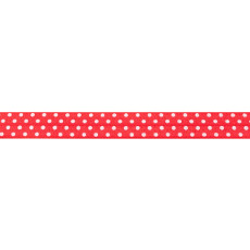 Red Foldover Elastic Spot - 16mm X 25m