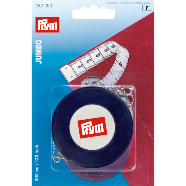 Prym Spring Tape Measure Jumbo 300cm / 120in