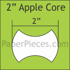 2 Inch Apple Cores 50 Pieces - Paper Piecing