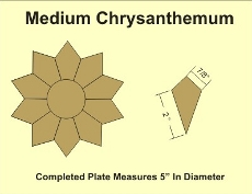 6in Chrysanthemum Small Pack 2 Complete Plates- Paper Piecing