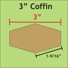 3 Inch Coffins 30 Pieces - Paper Piecing