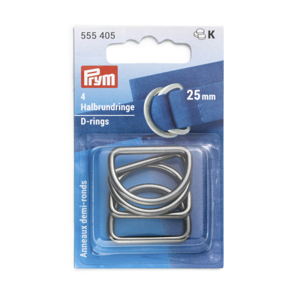 Prym D-Rings 25mm Gunmetal 4 pc