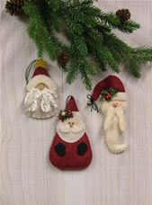 Santa Ornament Collection II - Countryside Crafts Felt Pattern