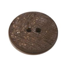 Acrylic Button 2 Hole Textured Speckle 18mm Chocolate