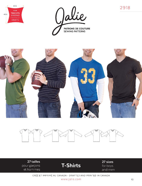 Mens T Shirts Pattern by Jalie