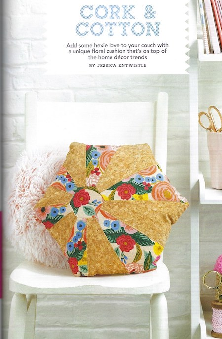 Love Patchwork & Quilting Issue 74 - Cork Based Cushion Project