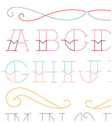 Tattoo Alphabet - Sublime Embroidery Transfer