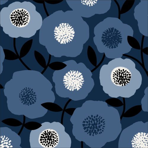 Blooms Blue from Modern Retro by Tina Vey