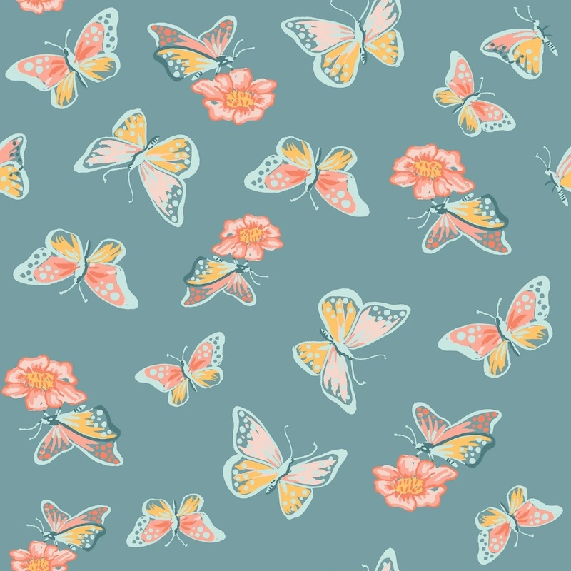 Flutter From Vintage 74 By Monaluna Fabrics