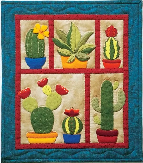 Miniature Quilt Kit - Succulents 13in X 15in
