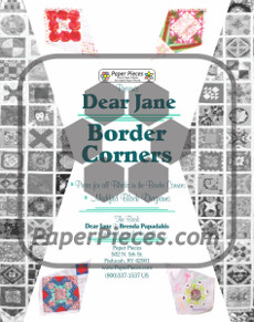 Dear Jane Quilt Paper Piece Pack Corners - Paper Piecing